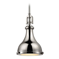 Elk Lighting Rutherford Polished Nickel Mini-Pendant Light with Bowl / Dome Shade