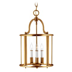 Hinkley Lighting Gentry Heirloom Brass Pendant Light with Conical Shade