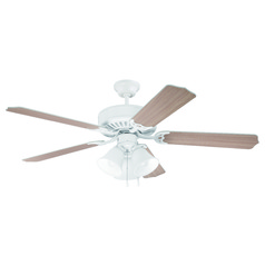 Craftmade Pro Builder 205 White Ceiling Fan with Light