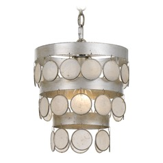 Crystorama Lighting Coco Antique Silver Mini-Pendant Light