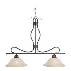 Maxim Lighting Basix Oil Rubbed Bronze Island Light with Bell Shade