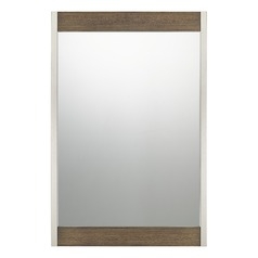 Transitional Mirror Wood Quoizel Reflections by Quoizel Lighting