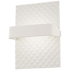 George Kovacs Quilted Matte White LED Sconce