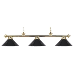 Elk Lighting Modern Billiard Light in Polished Brass Finish 167-PB-BK