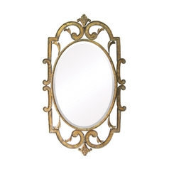 Oval 24-Inch Mirror
