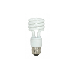 15-Watt Warm White Mini Compact Fluorescent Light Bulb