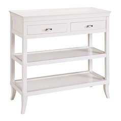 Sterling Lighting White Sofa Table