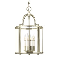 Hinkley Lighting Gentry Polished Nickel Pendant Light with Conical Shade