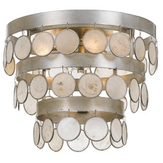 Crystorama Lighting Coco Antique Silver Flushmount Light