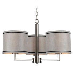 Kenroy Home Margot Brushed Steel Chandelier