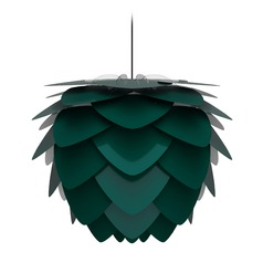 UMAGE Black Pendant Light with Forest Metal Shade