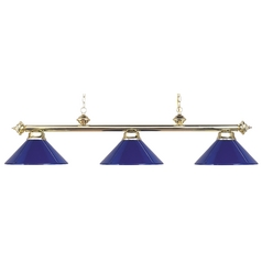 Elk Lighting Modern Billiard Light in Polished Brass Finish 167-PB-BLUE