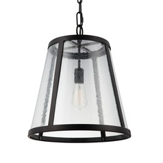 Feiss Harrow Oil Rubbed Bronze Pendant Light with Empire Shade