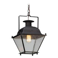 Troy Lighting Wellesley Charred Iron LED Outdoor Hanging Light