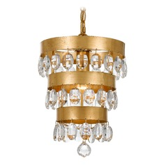 Crystorama Lighting Perla Antique Gold Mini-Pendant Light