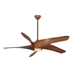 62-Inch Minka Aire Artemis XL5 Distressed Koa LED Ceiling Fan with Light