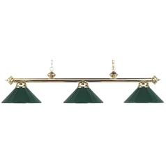 Elk Lighting Modern Billiard Light in Polished Brass Finish 167-PB-GR