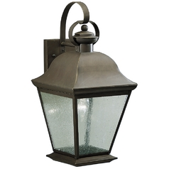 Kichler 19-1/2-Inch Outdoor Wall Light with Clear Seeded Glass