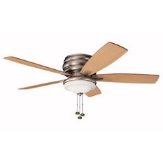 Kichler Lighting Kichler 52-Inch Outdoor Ceiling Fan with Five Blades and Light Kit 300119NI