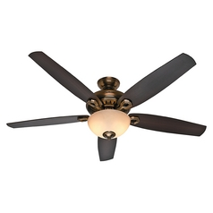 Hunter Fan Company Valerian Bronze Patina Ceiling Fan with Light