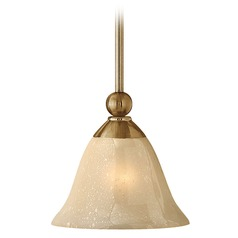 Light Amber Seeded Glass Mini-Pendant Light Bronze Hinkley Lighting