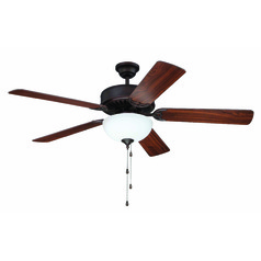 Craftmade Pro Builder 207 Aged Bronze Brushed Ceiling Fan with Light