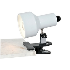Lite Source Lighting Clip-On Ii White Clip-On Lamp