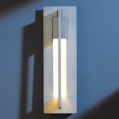 Hubbardton Forge Lighting Axis Burnished Steel Outdoor Wall Light