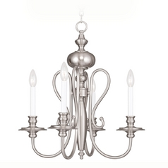 Livex Lighting Caldwell Brushed Nickel Chandelier