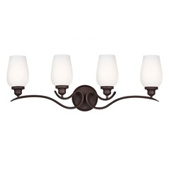 Feiss Lighting Standish Oil Rubbed Bronze with Highlights Bathroom Light