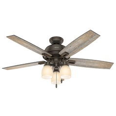 Hunter Fan Company Donegan Three Light Onyx Bengal LED Ceiling Fan with Light
