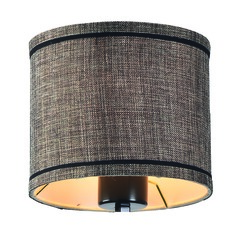 Bronze Gold Drum Lamp Shade with Uno Assembly