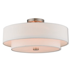 Livex Lighting Claremont Brushed Nickel Semi-Flushmount Light