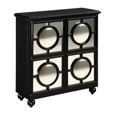 Sterling Lighting Black Cabinets / Storage / Organization