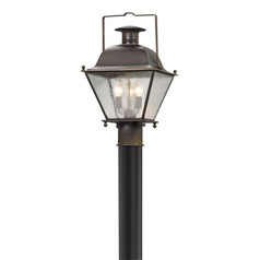Troy Lighting Wellesley Charred Iron LED Post Light