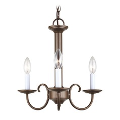 Sea Gull Lighting Holman Bell Metal Bronze LED Mini-Chandelier