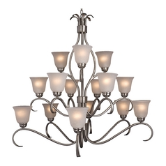Maxim Lighting Basix Satin Nickel Chandelier