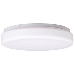 Kichler Modern Flushmount Light with White Glass in White Finish