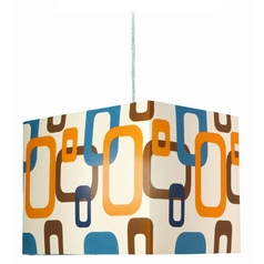 Lite Source Lighting Boogaloo Pendant Light with Rectangle Shade