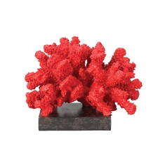 Sterling Lighting Sterling Red Coral Reef Modern Sculpture 60-1540