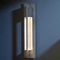 Hubbardton Forge Lighting Axis Dark Smoke Outdoor Wall Light