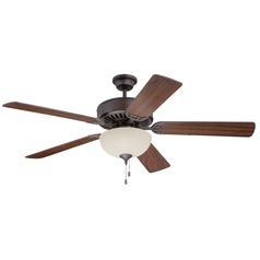 Craftmade Pro Builder 208 Aged Bronze Brushed Ceiling Fan with Light