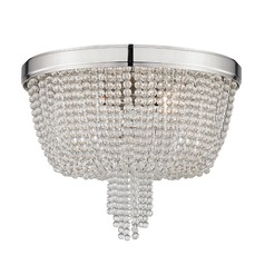 Hudson Valley Lighting Royalton Polished Nickel Flushmount Light
