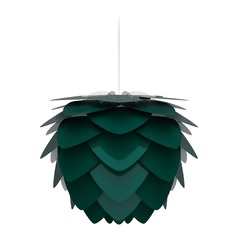 UMAGE White Pendant Light with Forest Metal Shade