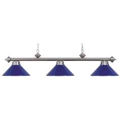 Elk Lighting Modern Billiard Light in Satin Nickel Finish 167-SN-BLUE