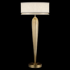 Fine Art Lamps Allegretto Gold Burnished Gold Leaf with Subtle Brown Highlights Table Lamp with Drum