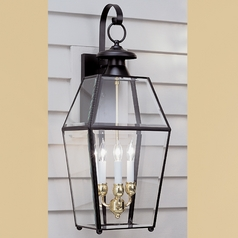 Norwell Lighting Olde Colony Black Outdoor Wall Light