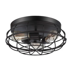 Savoy House Lighting Scout English Bronze Flushmount Light
