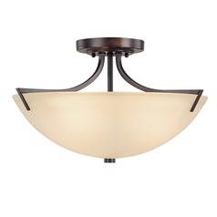 Capital Lighting Stanton Burnished Bronze Semi-Flushmount Light