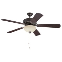 Craftmade Pro Builder 208 Aged Bronze Textured Ceiling Fan with Light